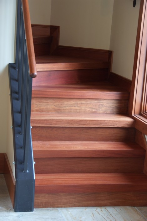 Brazilian Cherry Hardwood Stairs