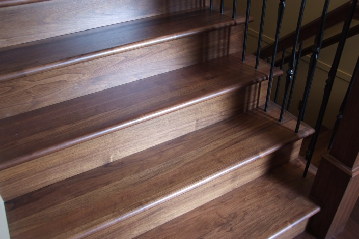 Black Walnut Hardwood Stairs