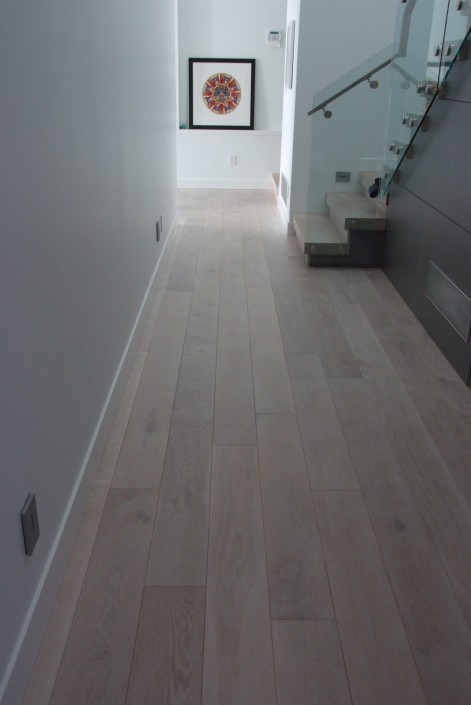 White Oak Hardwood Stairs