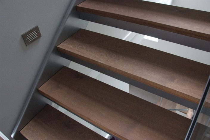 White Oak Floating Hardwood Stairs