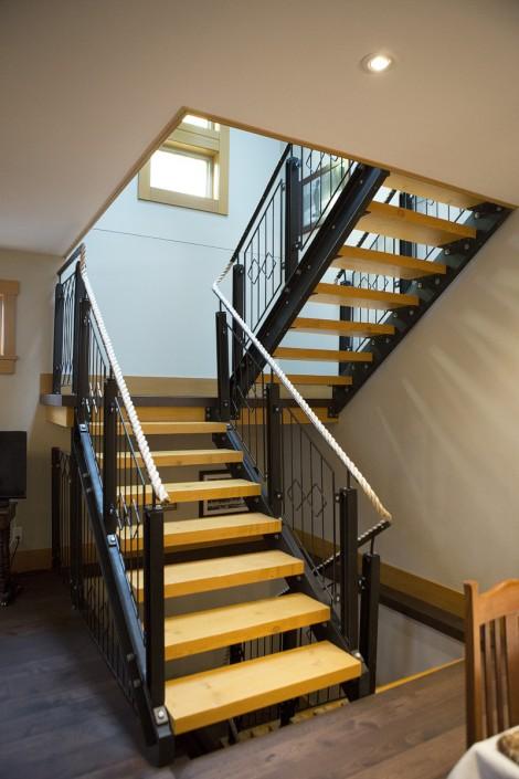 Hickory Hardwood Stairs