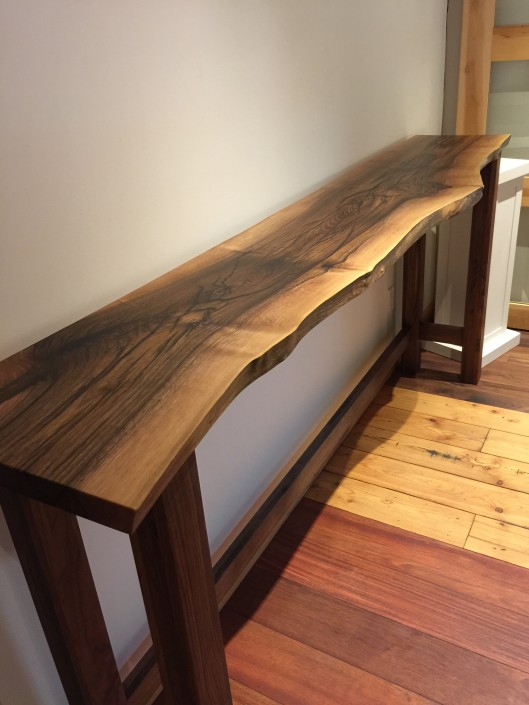 Live Edge Hardwood Bar Table