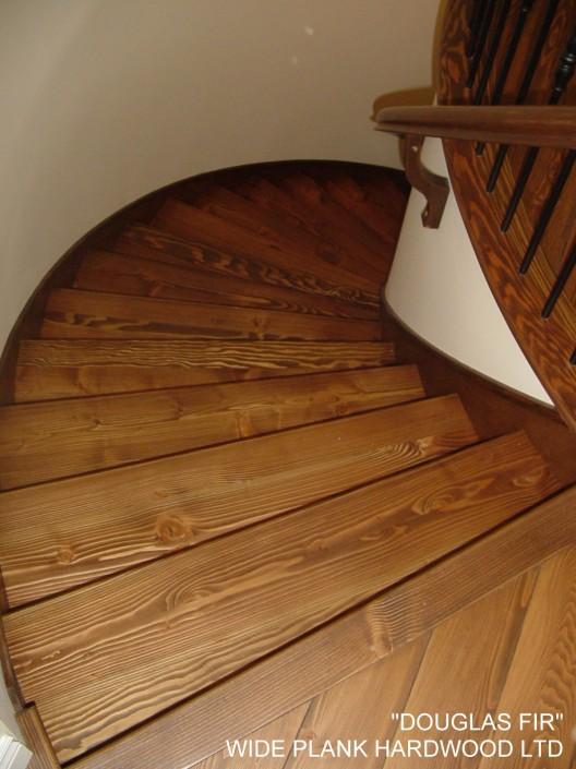 Spiral Douglas Fir Hardwood Stairs