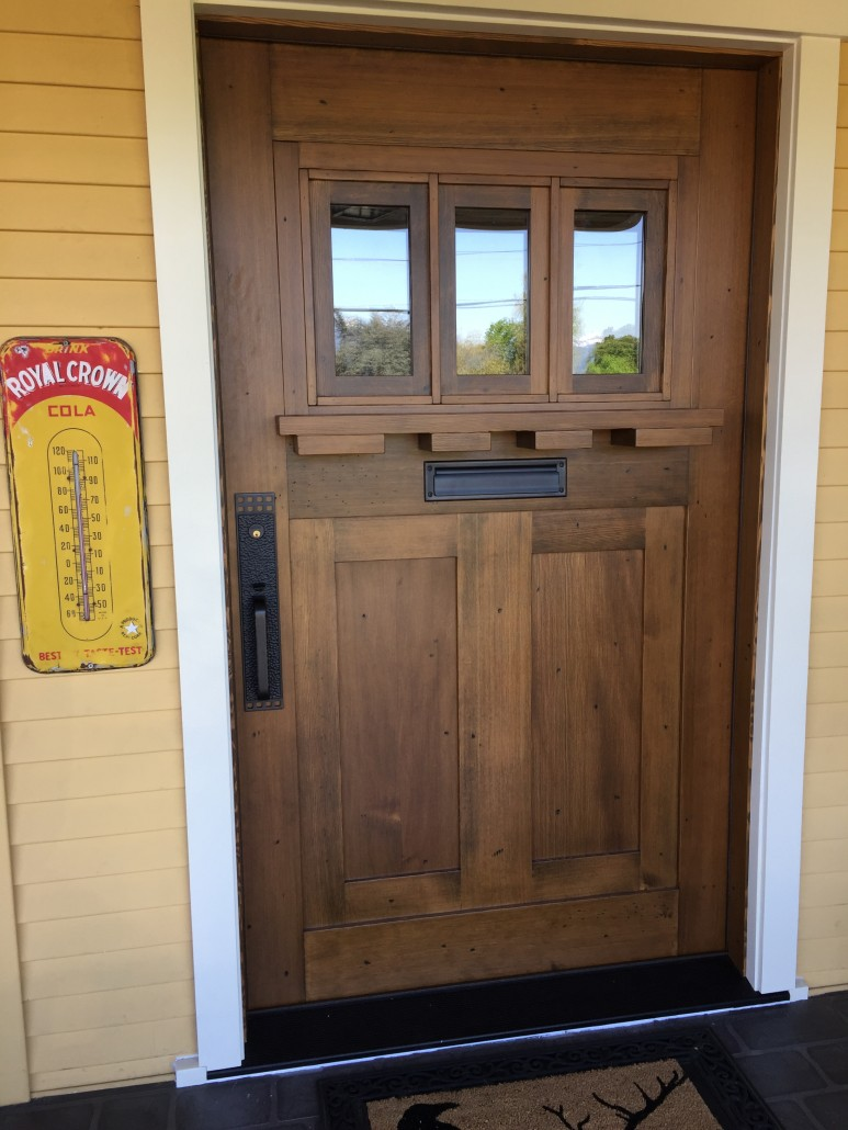 Douglas Fir Hardwood Front Door & Wide Plank Hardwood | Barn Doors