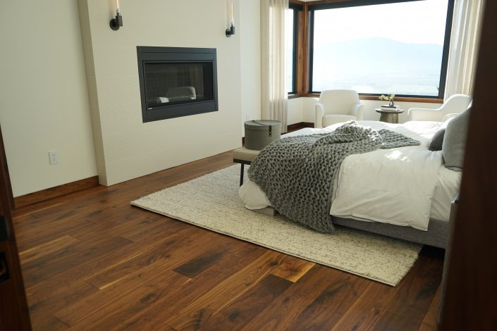 Custom Black Walnut Hardwood Floor - Solid - Vancouver