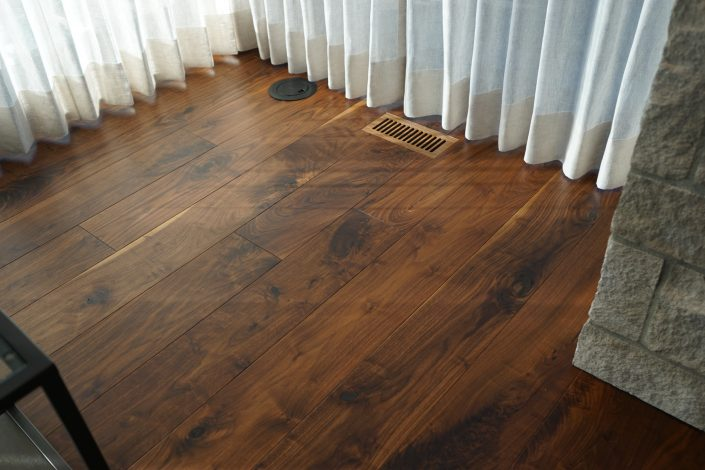 Solid Black Walnut Custom Hardwood Flooring - Vancouver Island