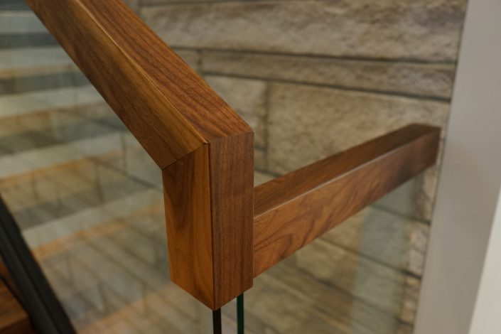 Floating Brazilian Cherry Hardwood Stairs