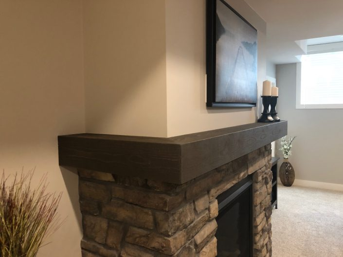 Custom Hardwood Mantle