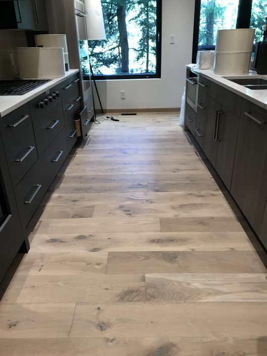 Custom wide plank hardwood floor