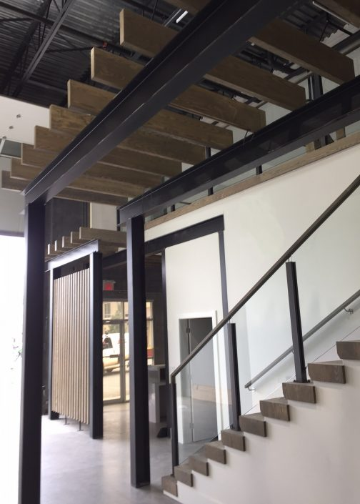 Ash hardwood stairs