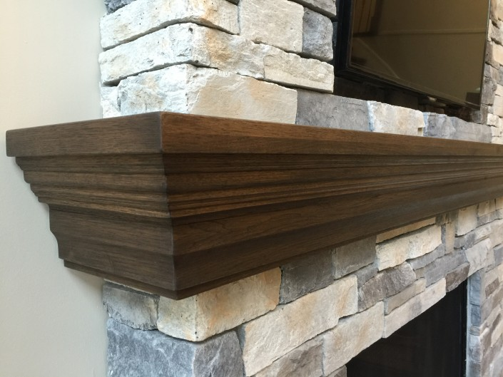 Custom Hardwood Fireplace Mantle
