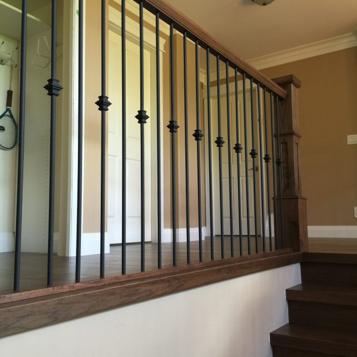 Hickory Hardwood Stairs and Rails