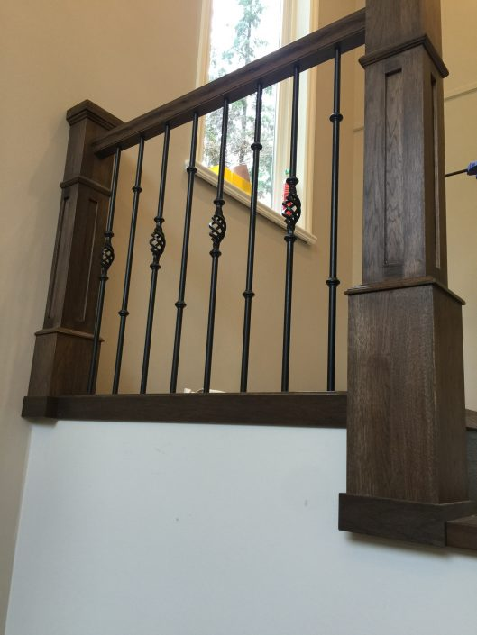Hickory Hardwood Stair Posts