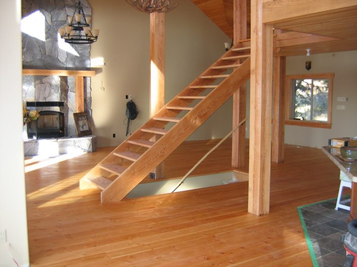 Custom Wide Plank Hardwood Stair Parts