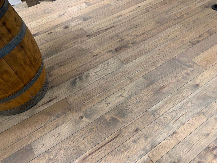 Custom hardwood flooring - hickory character two tone