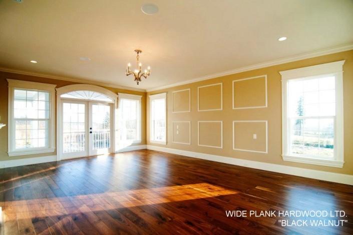 Engineered Black Walnut Hardwood Floor - mission