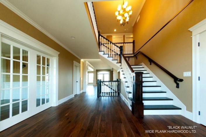 Solid Black Walnut Hardwood Floor - Bellingham