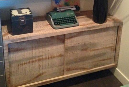 Hardwood Shelving Unit