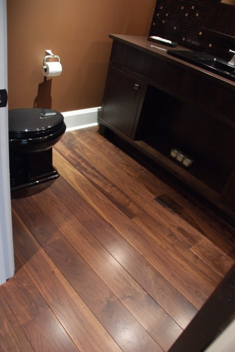 Solid Black Walnut Hardwood Floor - Langley