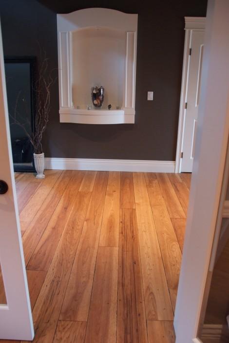 Two Tone Hickory Hardwood Floor - Chilliwack