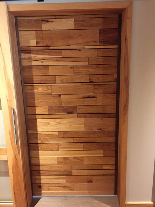 Hickory Hardwood Barn Door
