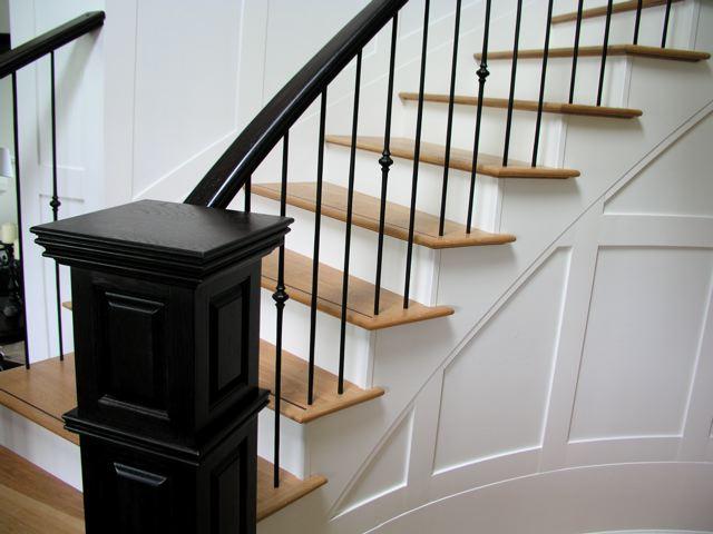 Hardwood Spiral Stairs