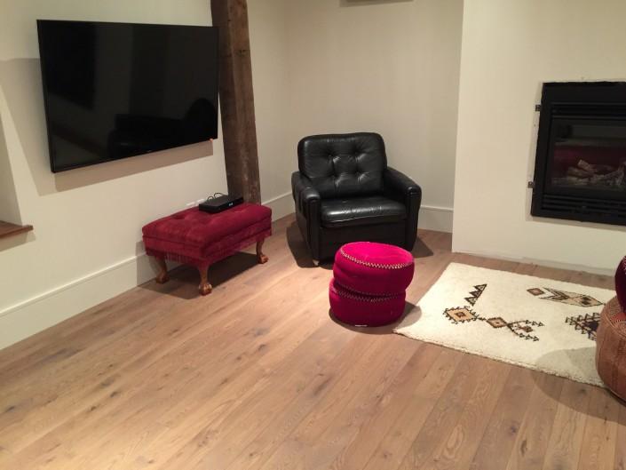 Solid White Oak Hardwood Floor - White Rock