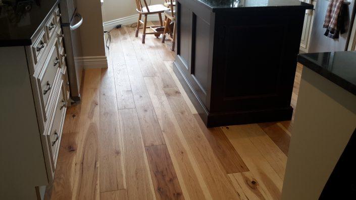 Hickory Wide Plank Hardwood Flooring - Coquitlam