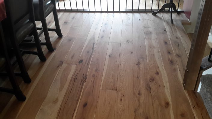 Engineered Hickory Wide Plank Hardwood Flooring - Coquitlam