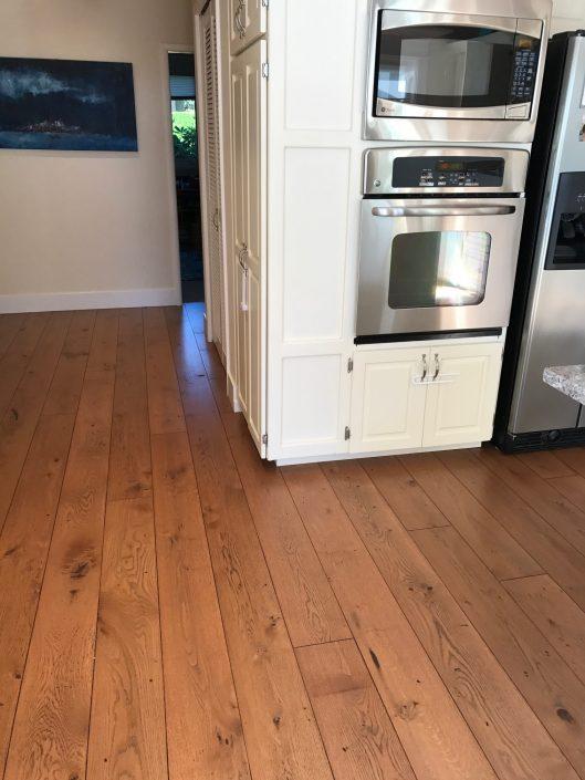 White Oak Character Wide Plank Flooring - maple ridge