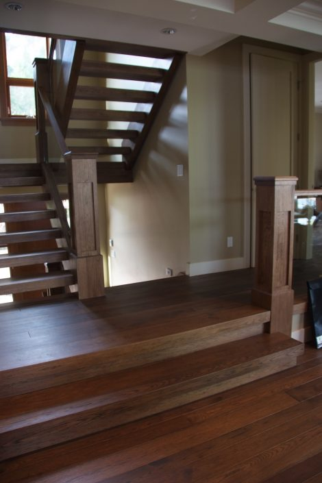 Custom Wide Plank Hardwood Stair Treads