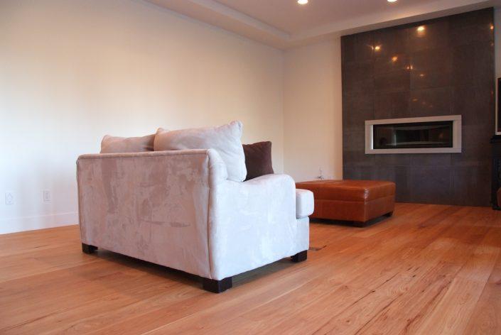 Custom Wide Plank Hardwood Flooring - Burnaby