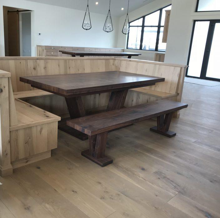Custom Black Walnut Hardwood Tables