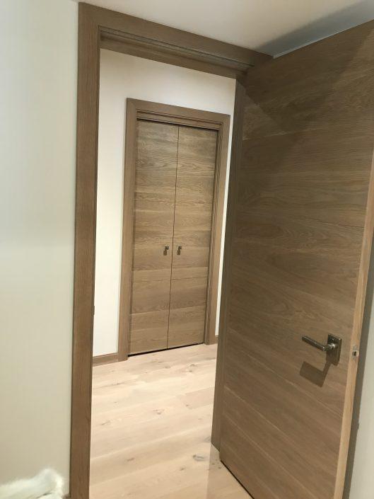 Custom hardwood barn door