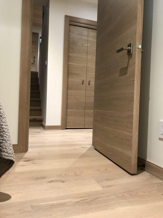 custom wide plank hardwood floors and doors - whistler