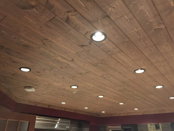 Hardwood Ceiling Paneling