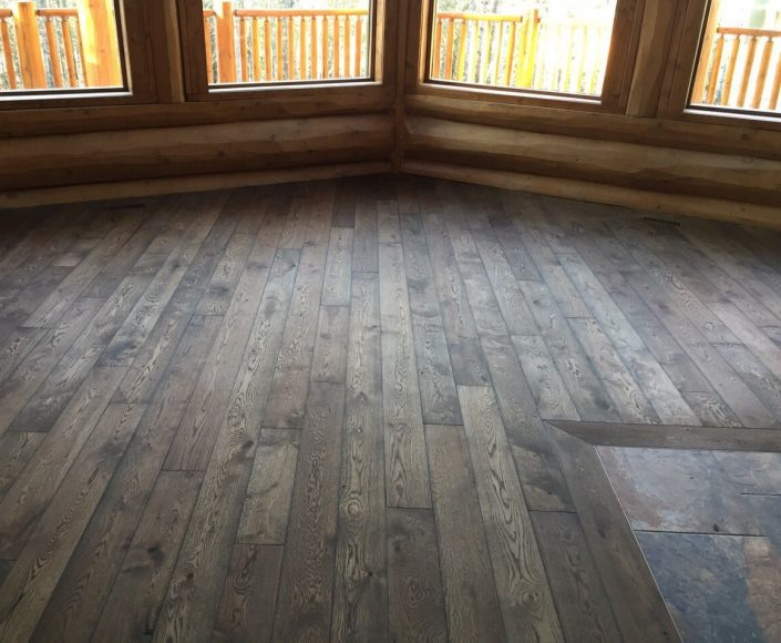Engineered White Oak Hardwood Floor - White Rock