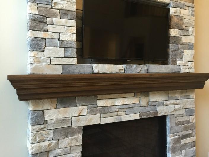 Custom Hardwood Fireplace Mantle