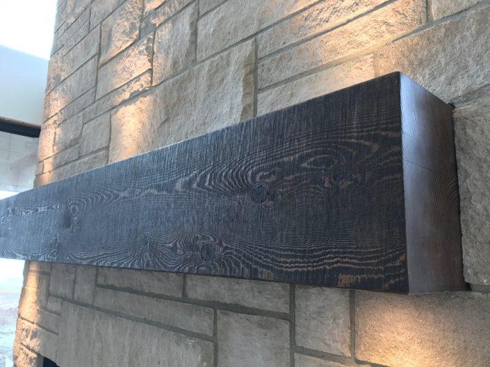 Custom Hardwood Mantle, Douglas Fir