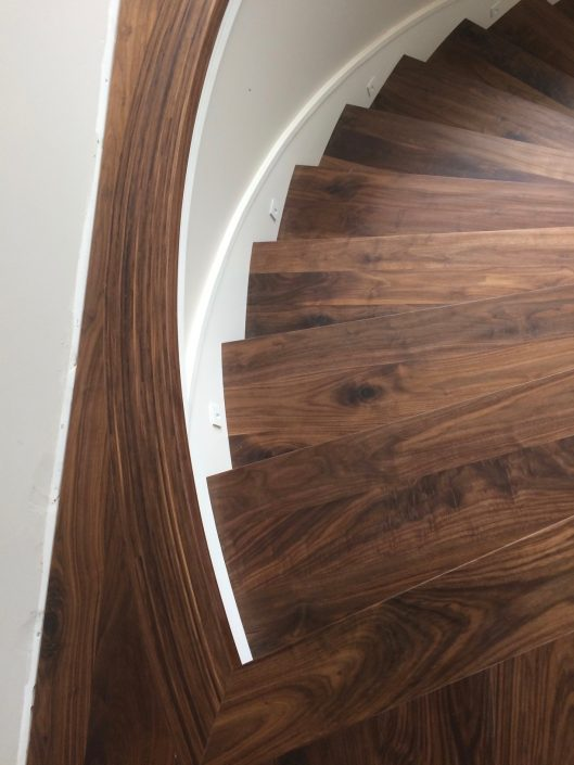 Black Walnut Hardwood Stairs