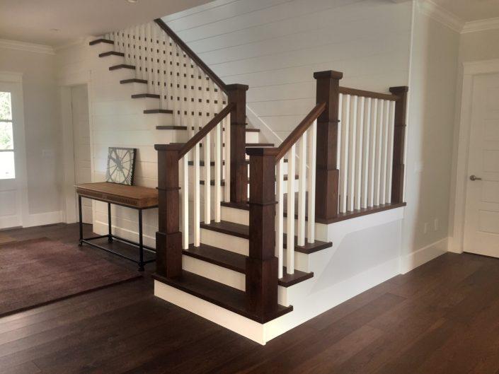 Hickory Hardwood Custom Stairs