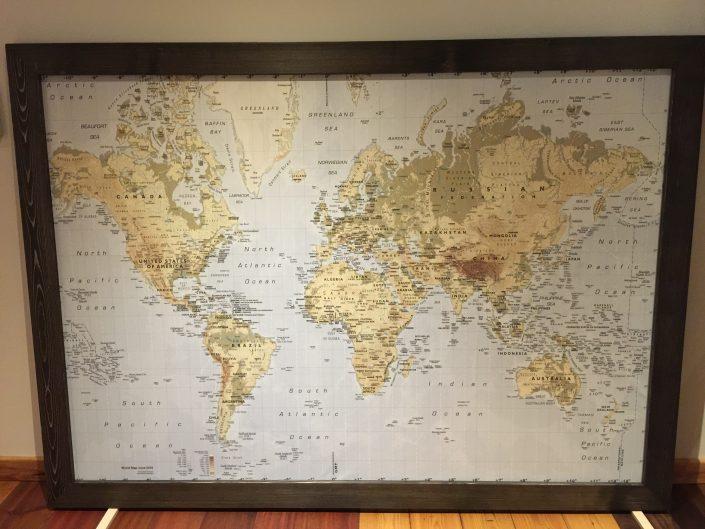 Map Hardwood Frame