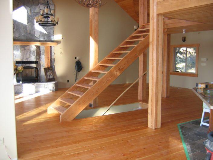 Custom Wide Plank Hardwood Stair Parts