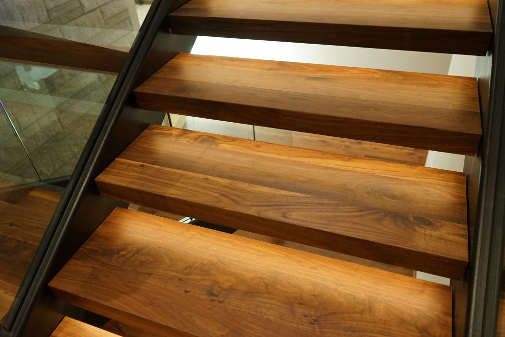 Wide Plank Hardwood Floating Treads