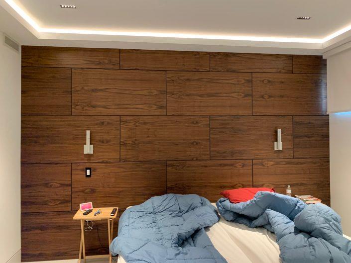 Black Walnut - Feature wall - Reveal panels