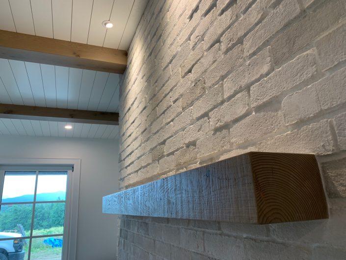Custom Hardwood Mantel