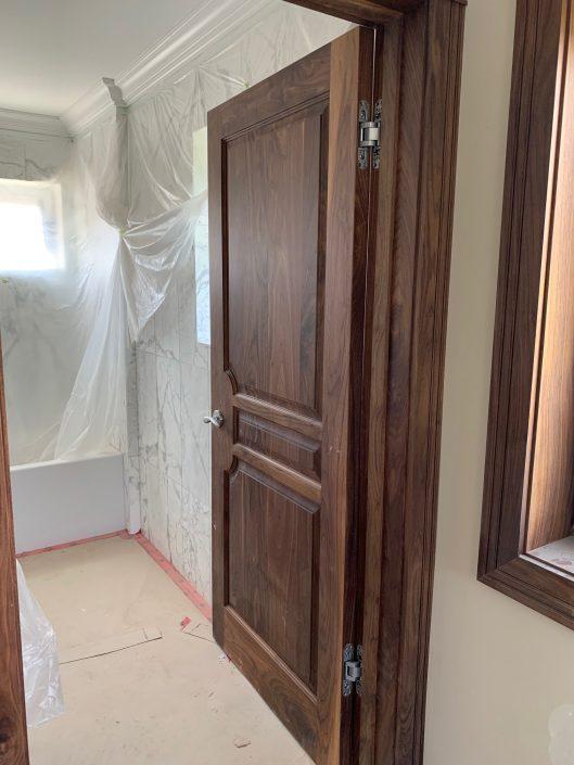 black walnut - double raised panel door